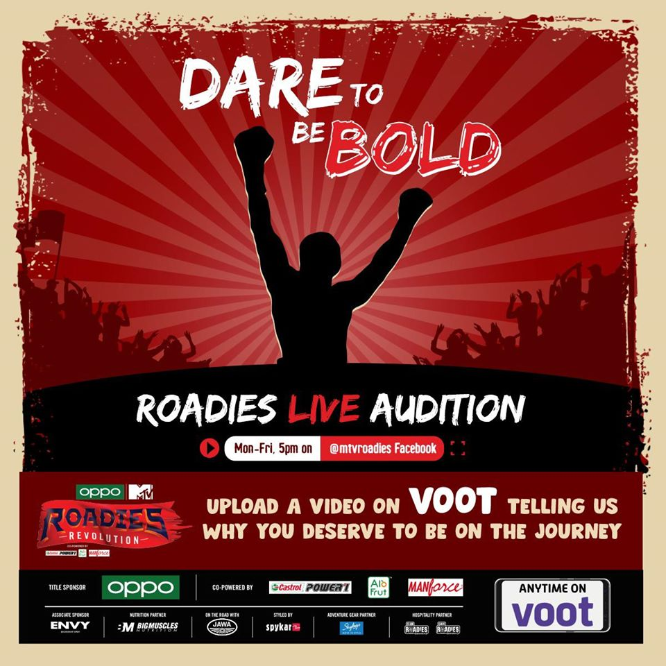 How to apply for Mtv roadies live auditions 2020?