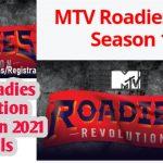 Mtv Roadies 2021 (X9) Audition dates, venue, online registration form